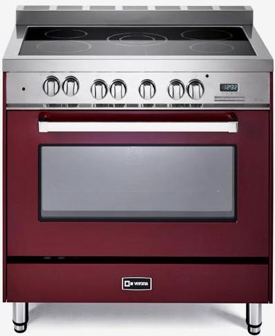 "Verona® 36"" Free Standing Electric Single Oven Range-Burgundy-VEFSEE365BU"