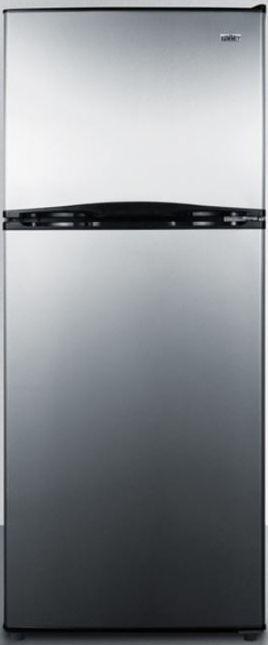 Summit® 9.9 Cu. Ft. Top Freezer Refrigerator-Stainless Steel-FF1085SS