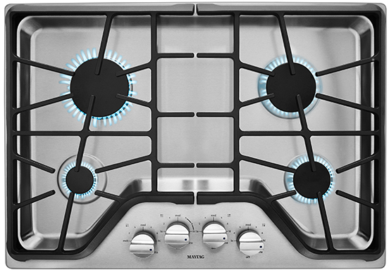 """Maytag® 30"""" Gas Cooktop-Stainless Steel-MGC9530DS"""