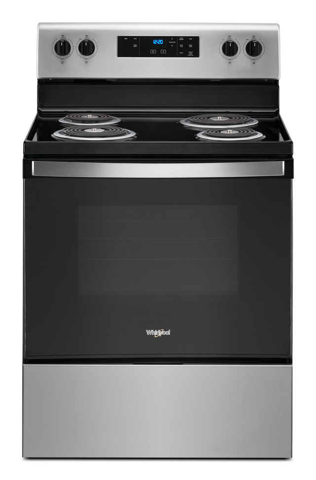 Whirlpool® 4.8 Cu. Ft. Stainless Steel Free Standing Electric Range-WFC150M0JS