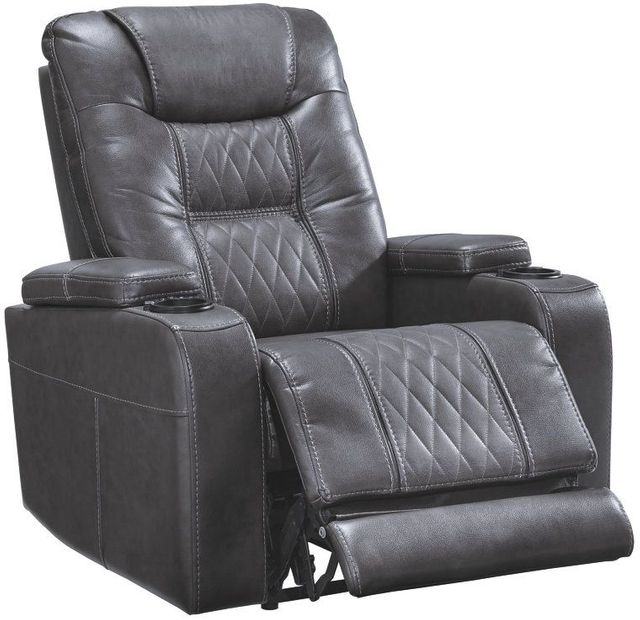 Signature Design by Ashley® Composer Gray Power Recliner with Adjustable Headrest-2150613