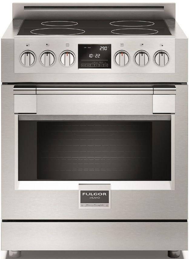 "Fulgor Milano® Sofia 600 Series 30"" Pro Style Induction Range-Stainless Steel-F6PIR304S1"