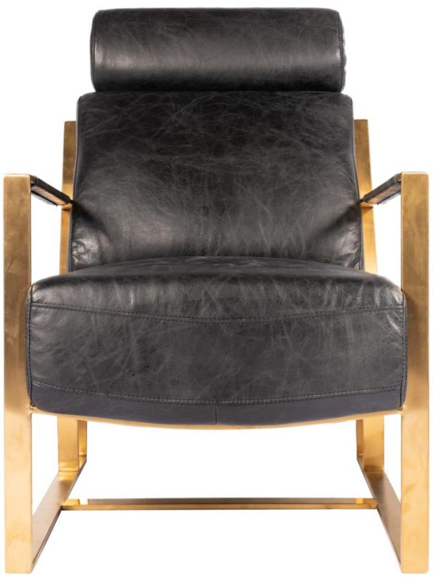 Fauteuil Paradiso en tissu noir Moe's Home Collections®-PK-1083-02