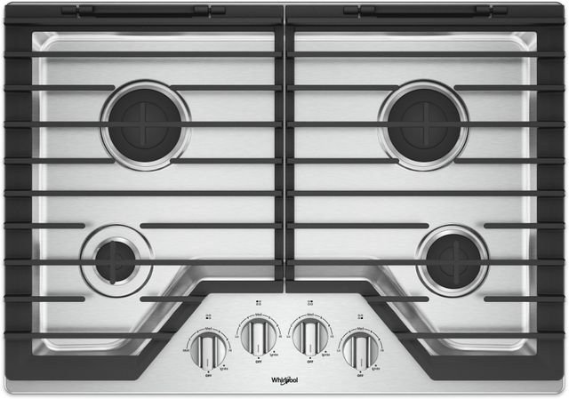 "Whirlpool® 30"" Gas Cooktop-Stainless Steel-WCG55US0HS"