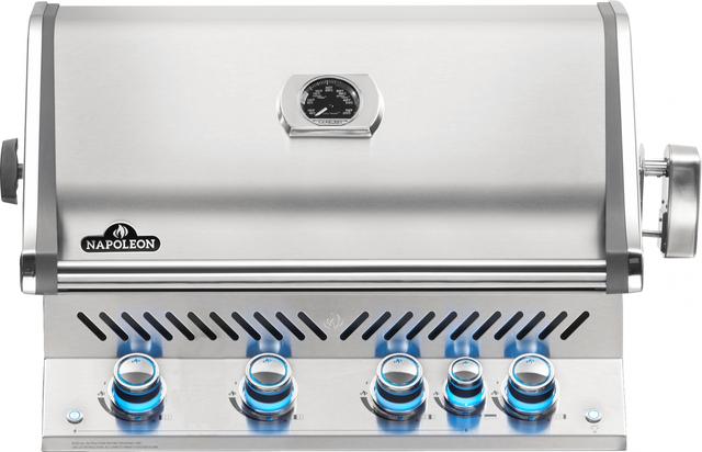 Gril encastré au gaz naturel Napoleon Prestige Pro de 32,5 po - Acier inoxydable-BIPRO500RBPSS-3