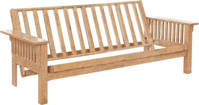 Coaster® Weathered Oak Slat Futon Frame-4838