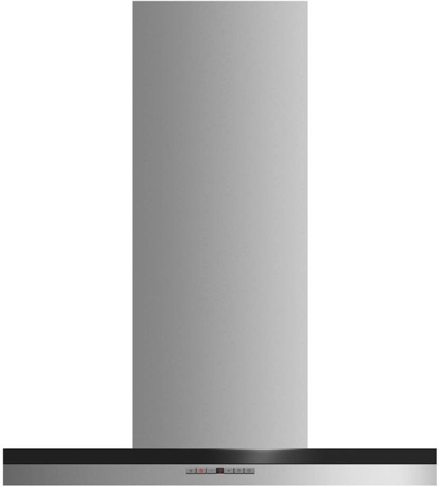 """Fisher Paykel 24"""" Wall Chimney Vent Hood-Brushed Stainless Steel with Black Glass-HC24DTXB2"""