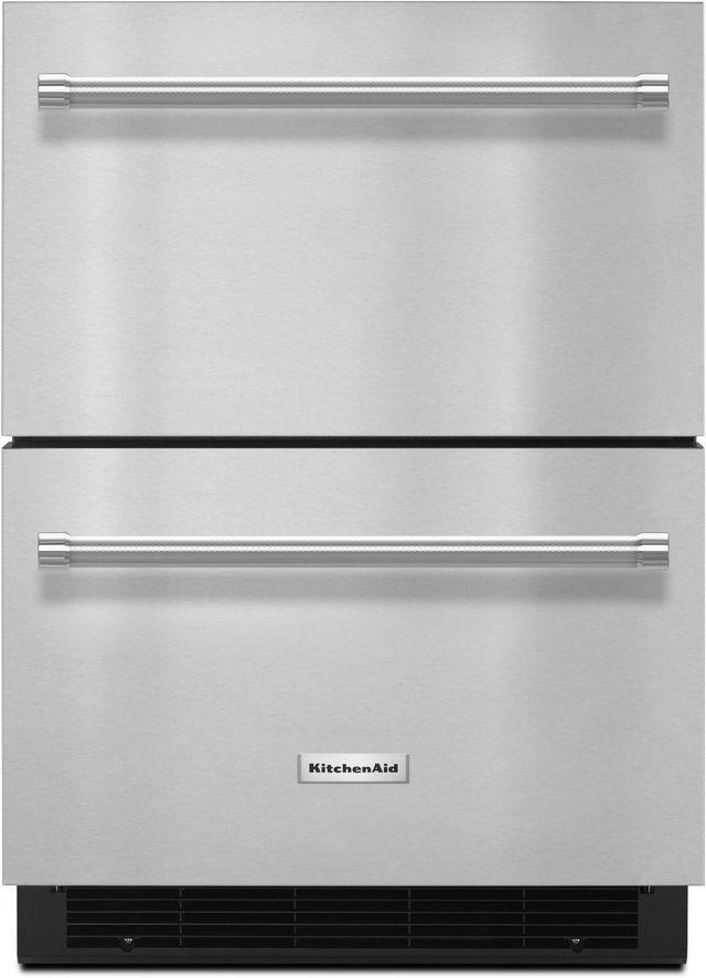 KitchenAid® 4.7 Cu. Ft. Stainless Steel Refrigerator/Freezer Drawer-KUDF204ESB