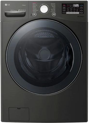 Laveuse à chargement frontal LG® de 5,2 pi³ - Acier inoxydable noir-WM3800HBA