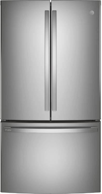 GE Profile™ 23.1 Cu. Ft. Fingerprint Resistant Stainless Steel Counter Depth French Door Refrigerator-PWE23KYNFS