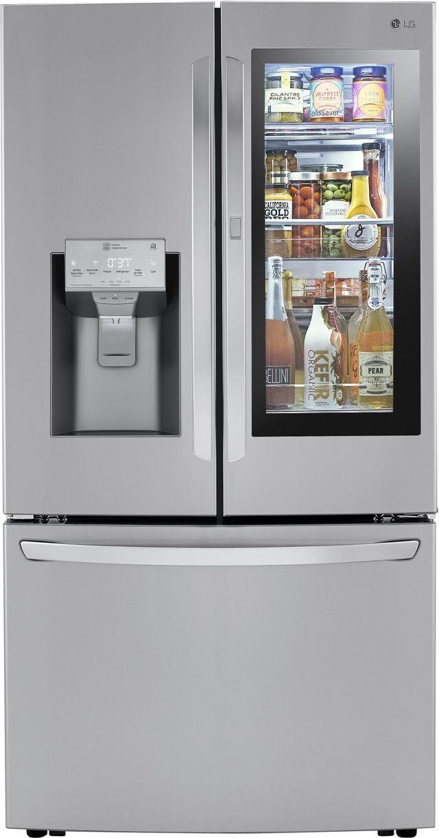 Réfrigérateur à portes françaises à profondeur de comptoir de 36 po LG® de 23,5 pi³ - Acier inoxydable résistant aux traces de doigts-LRFVC2406S