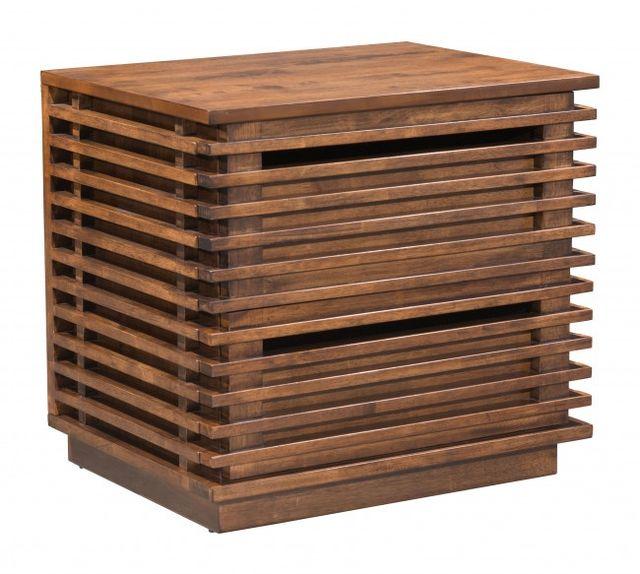 Zuo® Linea Walnut End Table-100577