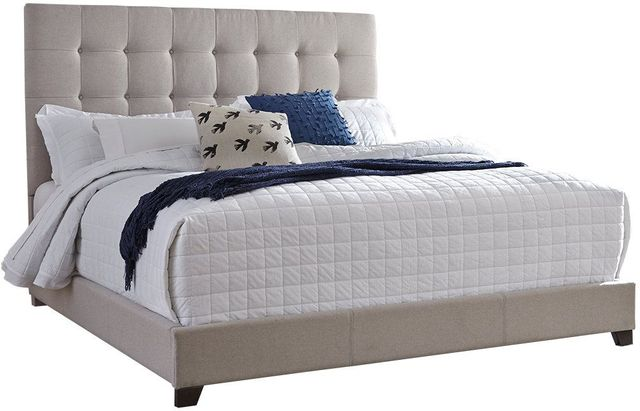 Signature Design by Ashley® Dolante Beige Queen Upholstered Bed-B130-581