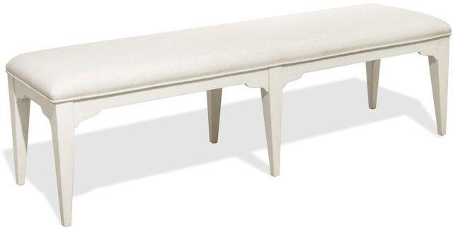 Riverside Furniture Myra White Upholstered Dining Bench-59359