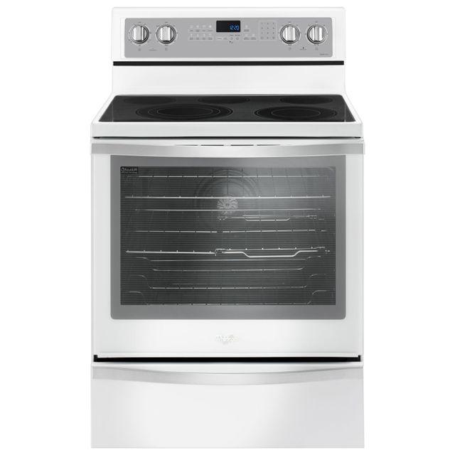 Cuisinière électrique autoportante de 30 po Whirlpool® de 6,4 pi³ de 30 po - Glace blanche-YWFE745H0FH