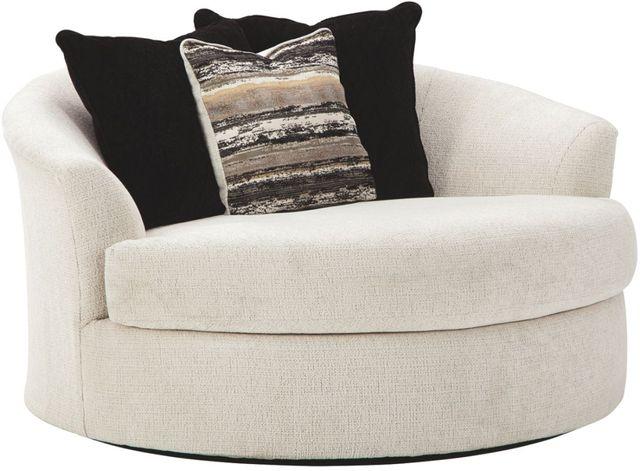 Ashley® Cambri Snow Oversized Round Swivel Chair-9280121