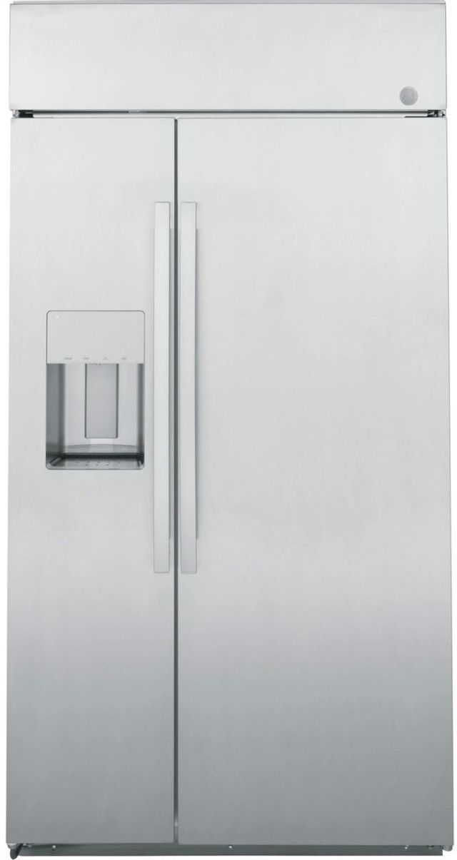 GE Profile™ 24.47 Cu. Ft. Stainless Steel Counter Depth Side By Side Refrigerator -PSB42YSRSS