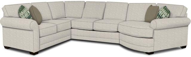 England Furniture Co. Brantley 4 Piece Culpepper Snow/Alvarado Mineral/Rizzoli Linen Sectional-5630-28-22-43-95+8613+8665+8601