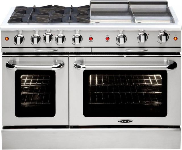 """Capital Culinarian 48"""" Stainless Steel Free Standing Gas Range-MCOR484GGL"""