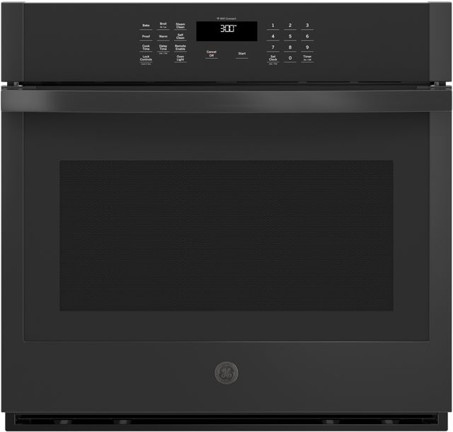 """GE® 30"""" Black Electric Single Oven Built In-JTS3000DNBB"""