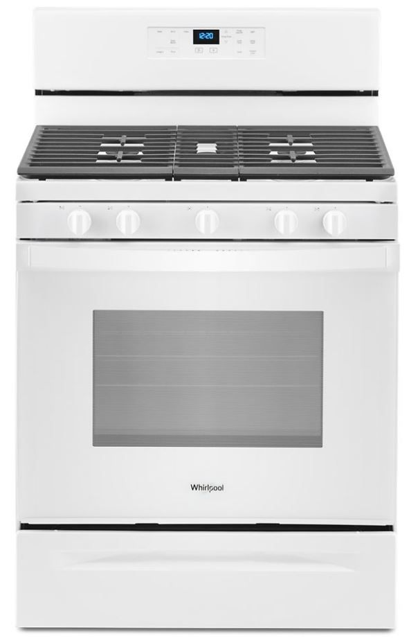 "Whirlpool® 30"" White Free Standing Gas Range-WFG525S0JW"