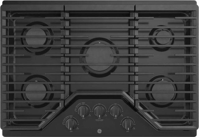 """GE® 30"""" Built-In Gas Cooktop-Black-JGP5030DLBB"""