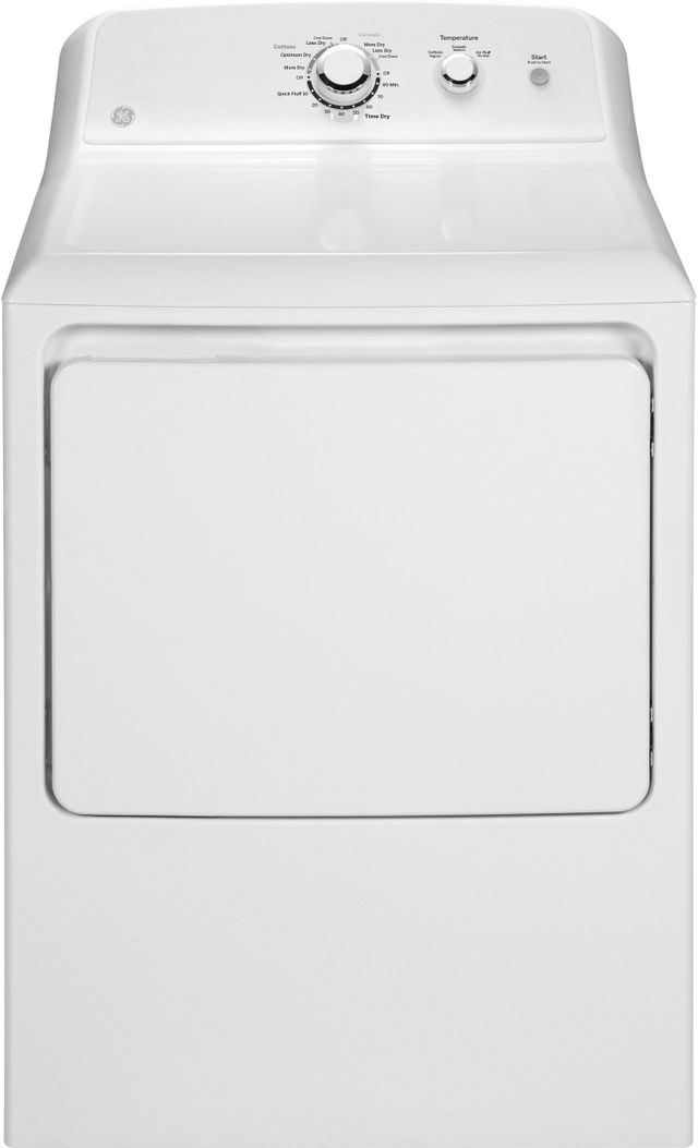 GE® Front Load Gas Dryer-White-GTD33GASKWW