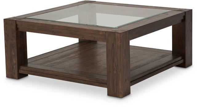 Michael Amini® Carrollton Rustic Ranch Square Cocktail Table-KI-CRLN204-407