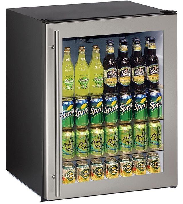 U-Line® ADA Series 5.4 Cu. Ft. Stainless Steel Under the Counter Refrigerator-ADA24RGLS-13B