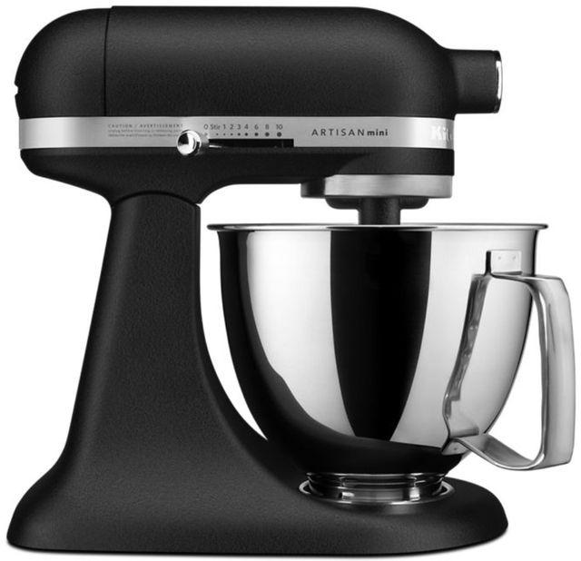 KitchenAid® Artisan® Mini Cast Iron Black 3.5 Quart Stand Mixer-KSM3316XBK