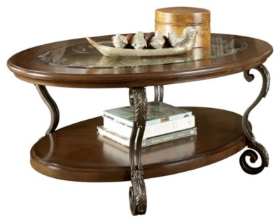 Signature Design by Ashley® Nestor Medium Brown Oval Coffee Table-T517-0