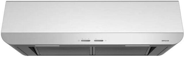 """Broan® Spire BPDP1 Series 36"""" Under Cabinet Range Hood-Stainless Steel-BPDP136SS"""