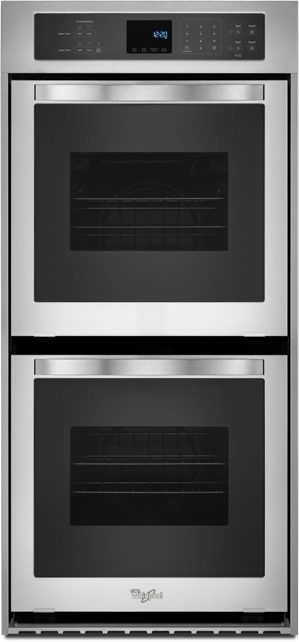 """Whirlpool® 24"""" Electric Built In Double Oven-Stainless Steel-WOD51ES4ES"""