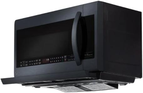 Four à micro-ondes à hotte intégrée LG® de 2,2 pi³ de 30 po - Acier inoxydable noir mat-LMV2257BM