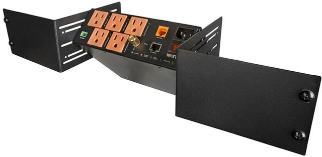 Control4® WattBox® Black 5 Outlet IP Power Conditioner with OvrC Home and Rack Mount Kit-ZKIT-WB-300VB-RM