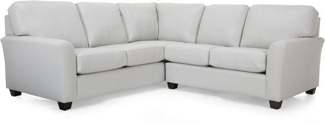 Canapé sectionnel 2 morceaux en cuir Decor-Rest®-3A1-31+06