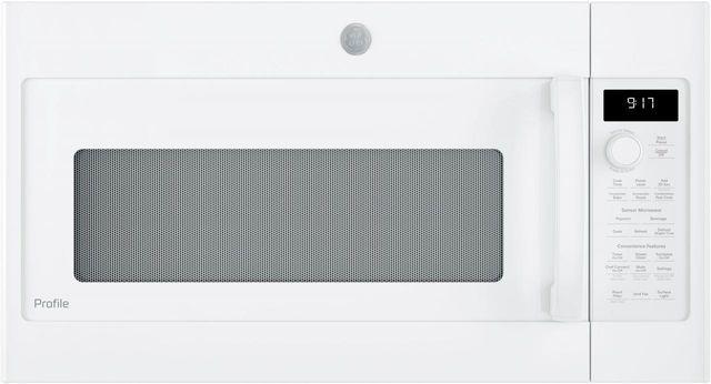 "GE Profile™ 29.88"" White Over The Range Microwave-PVM9179DKWW"