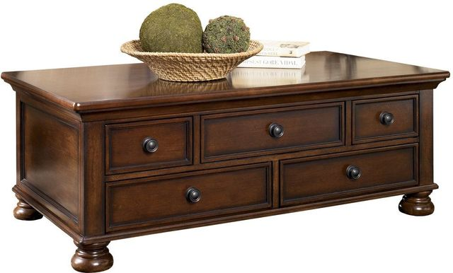 Signature Design by Ashley® Porter Rustic Brown Rectangular Cocktail Table-T697-20