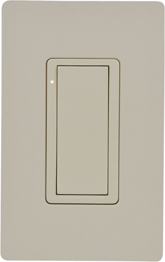 Crestron® Cameo® Ivory Smooth 120 V Wireless In-Wall Switch-CLW-SWEX-P-IVR-S