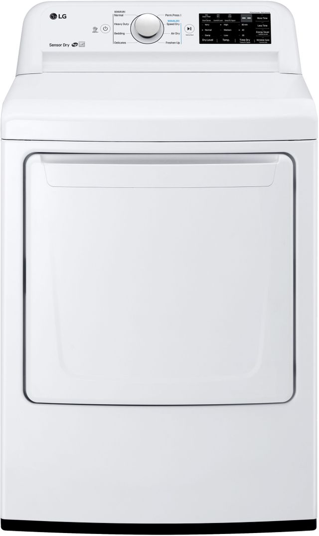LG 7.3 Cu. Ft. White Front Load Gas Dryer-DLG7101W