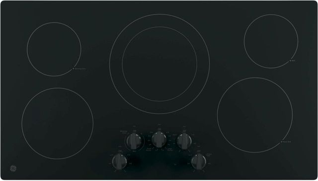 """GE® 36"""" Built In Electric Cooktop-Black-JP3036DLBB"""