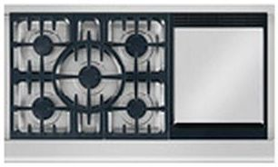 """DCS Professional 48"""" Gas Cooktop-Stainless Steel-CPV-486GD"""