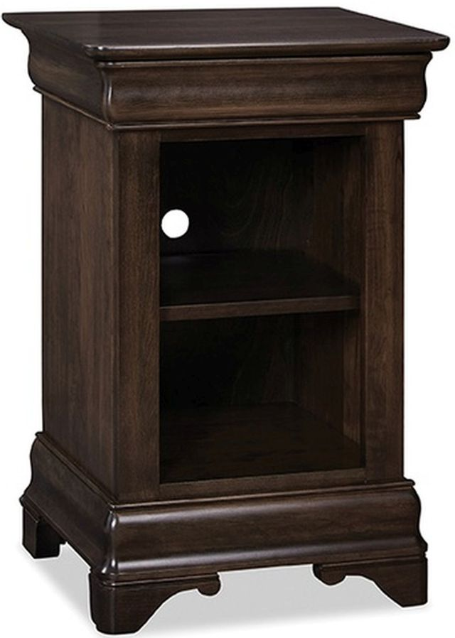 Durham Furniture Chateau Fontaine Blackened Mocha Open Night Stand-975-201