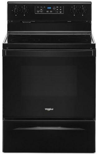 "Whirlpool® 30"" Black Free Standing Electric Range-WFE515S0JB"