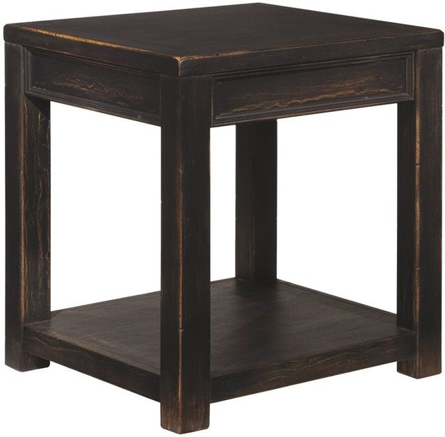 Table d'extrémité carrée Gavelston, noir, Signature Design by Ashley®-T732-2