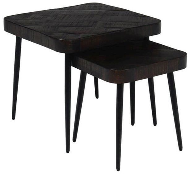 Signature Design by Ashley® Ravenwood Set of 2 Brown/Black Nesting Tables-A4000288
