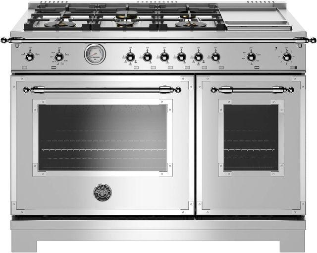 Cuisinière au gaz style Pro Bertazzoni® de 7,1 pi³ de 48 po - Acier inoxydable-HERT486GGASXT
