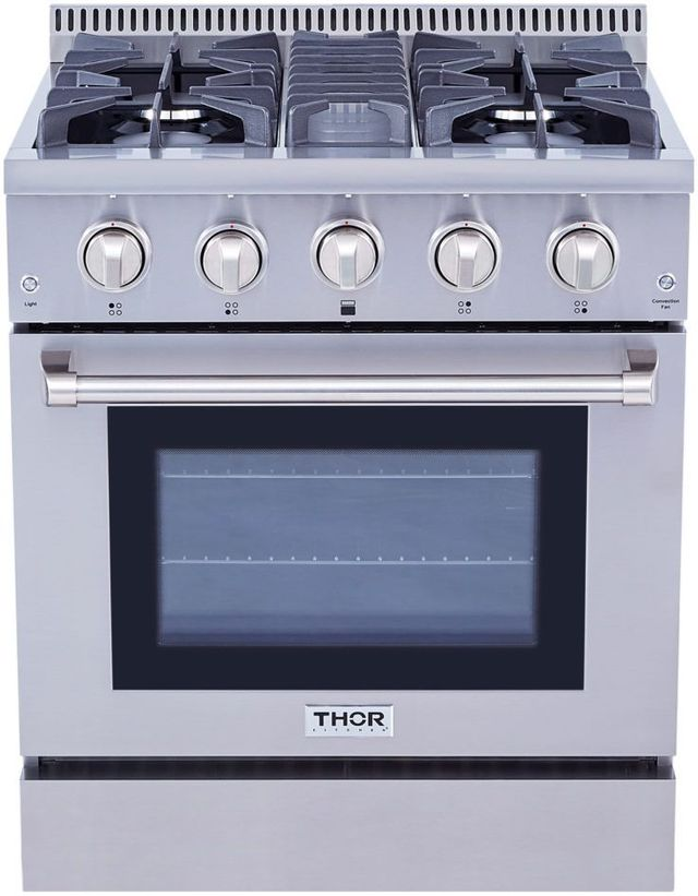"Thor Kitchen® 30"" Stainless Steel Pro Style Gas Range-HRG3080U"