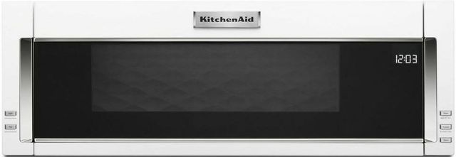 KitchenAid® 1.1 Cu. Ft. White Over The Range Microwave Hood Combination-KMLS311HWH
