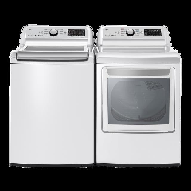 LG Laundry Pair-White-LGLAUDLE7300WE